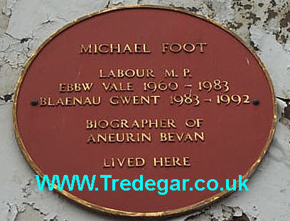 Michael Foot Plaque.