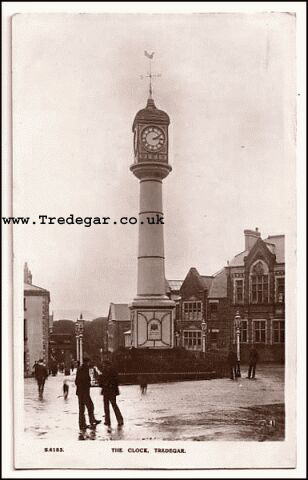 Tredegar Town Clock in 1943